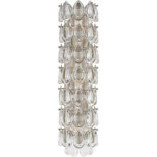 AERIN Liscia 3 Light 6 inch Burnished Silver Leaf Sconce Wall Light