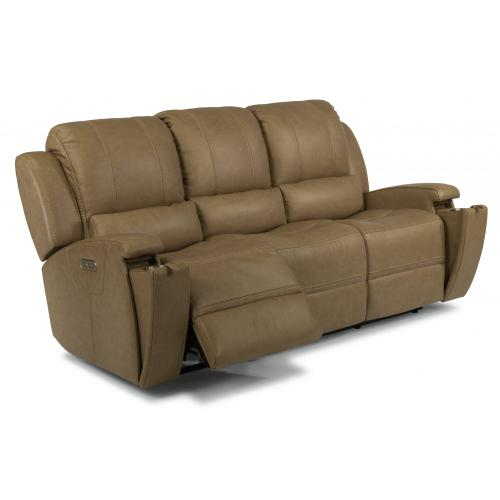 Asher Power Reclining Sofa with Power Headrests