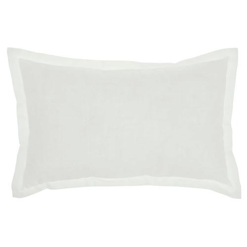 """Kathy Ireland Pillow L2114 White 12"""" X 20"""" Throw Pillow"""