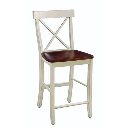 X-Back Stool in Almond & Espresso