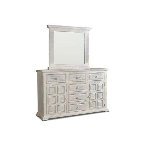 Marquis White Dresser and Mirror