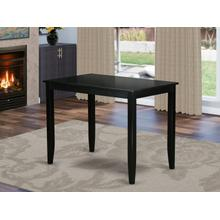 """Buckland Counter Height Rectangular Table 30""""x48"""" in Black Finish"""