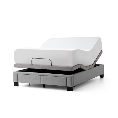 Malouf - Duncan Platform Bed Base - King Charcoal