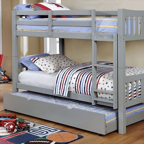 Cameron Twin/Twin Bunk Bed, Gray