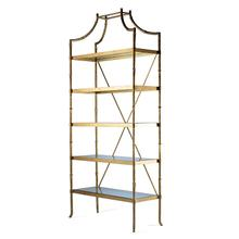 Golden Regency Metal Etagere