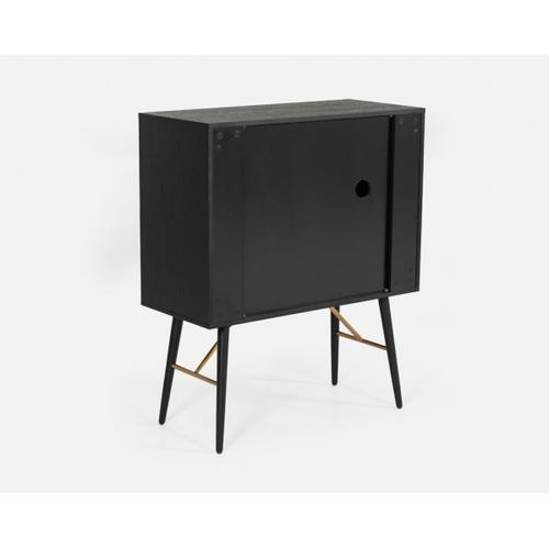 VIG Furniture - Modrest Billy Modern Black Oak & Gold Tall Buffet