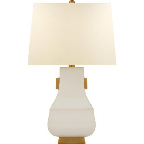 Visual Comfort - E. F. Chapman Kang Jug 29 inch 100.00 watt Ivory with Burnt Gold Table Lamp Portable Light, Large