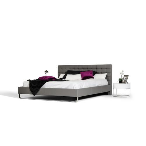 VIG Furniture - Modrest Gemma Modern Grey Leatherette Bed