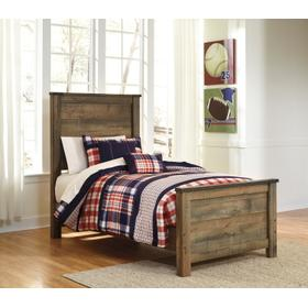 Trinell Twin Panel Bed Brown