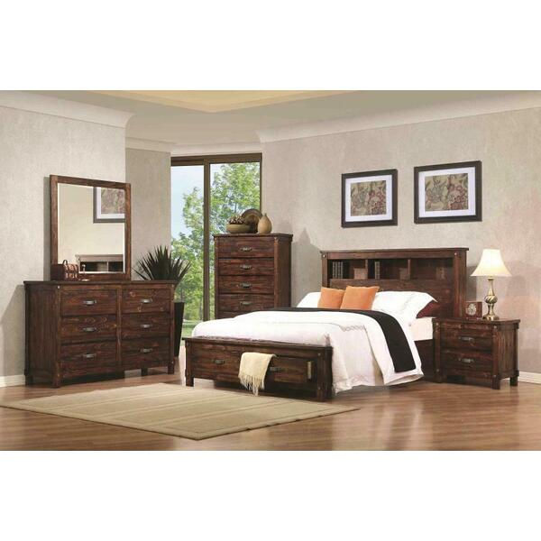 Noble Rustic Oak Queen Storage Bed