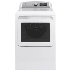 GE® 7.4 cu. ft. Capacity Smart aluminized alloy drum Electric Dryer with Sanitize Cycle and Sensor Dry Product Image