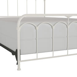 Jocelyn Queen Metal Bed, Soft White