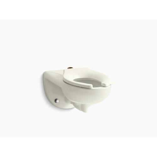 Biscuit Wall-mounted Top Spud Flushometer Bowl