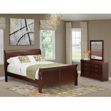 West Furniture Louis Philippe 3 Piece Queen Size Bedroom Set in Phillip Walnut Finish with Queen Bed, ,Dresser, Mirror,