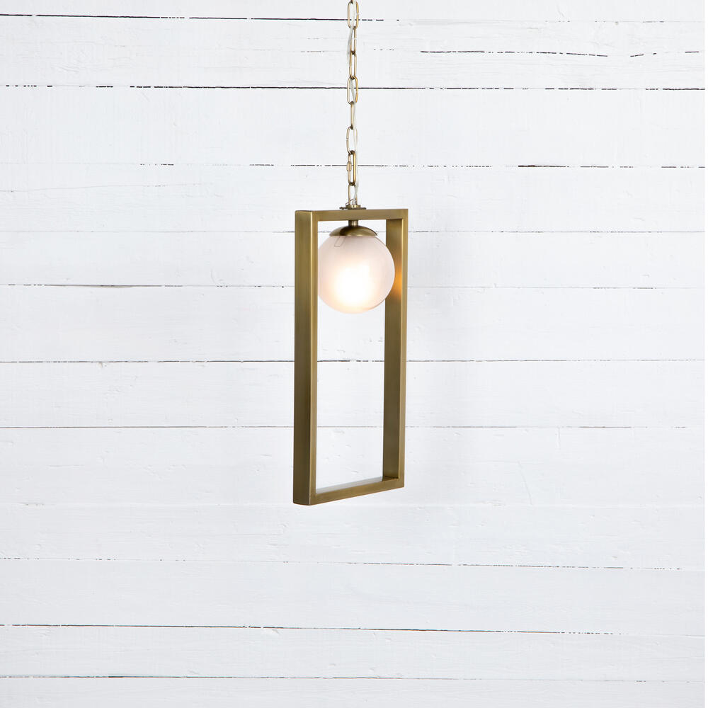 Lance Small Pendant-antique Brass