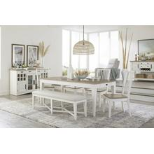 See Details - AMERICANA MODERN DINING Dining Table 60 in. x 38 in. Rect to 78 in. (18 in. Leaf)