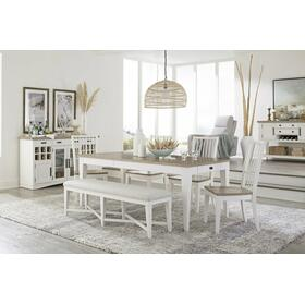 AMERICANA MODERN DINING Dining Table 60 in. x 38 in. Rect to 78 in. (18 in. Leaf)