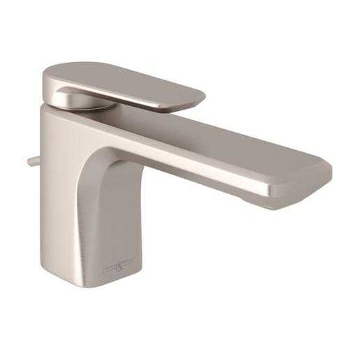 Satin Nickel Perrin & Rowe Hoxton Single Hole, Single Lever Lavatory Faucet with Hoxton Metal Lever