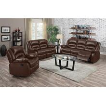 Eden Brown Leather Reclining Loveseat
