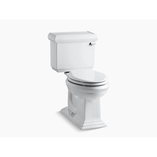 White Two-piece Elongated 1.28 Gpf Chair Height Toilet With Right-hand Trip Lever