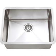 "See Details - 23"" L x 18"" W x 10"" D Undermount 16 Gauge Handmade Stainless Steel Single Bowl Sink"