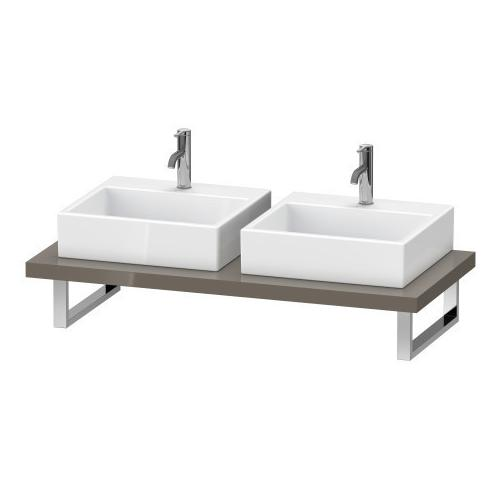 Console For Above-counter Basin And Vanity Basin, Flannel Gray High Gloss (lacquer)