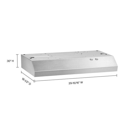 """Whirlpool - 30"""" Range Hood with Full-Width Grease Filters"""