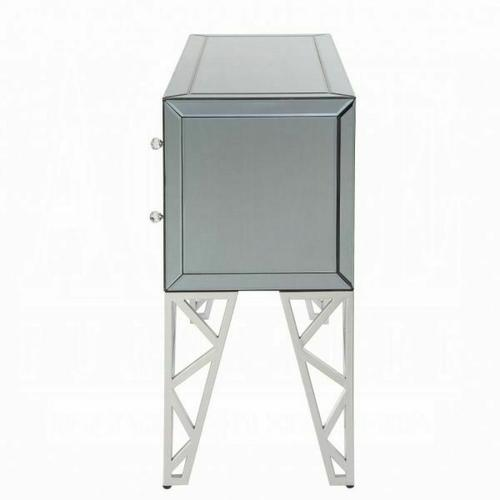 ACME Stephen II Console Table - 90055 - Mirrored & Chrome