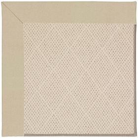 "Creative Concepts-White Wicker Canvas Antique Beige - Rectangle - 24"" x 36"""