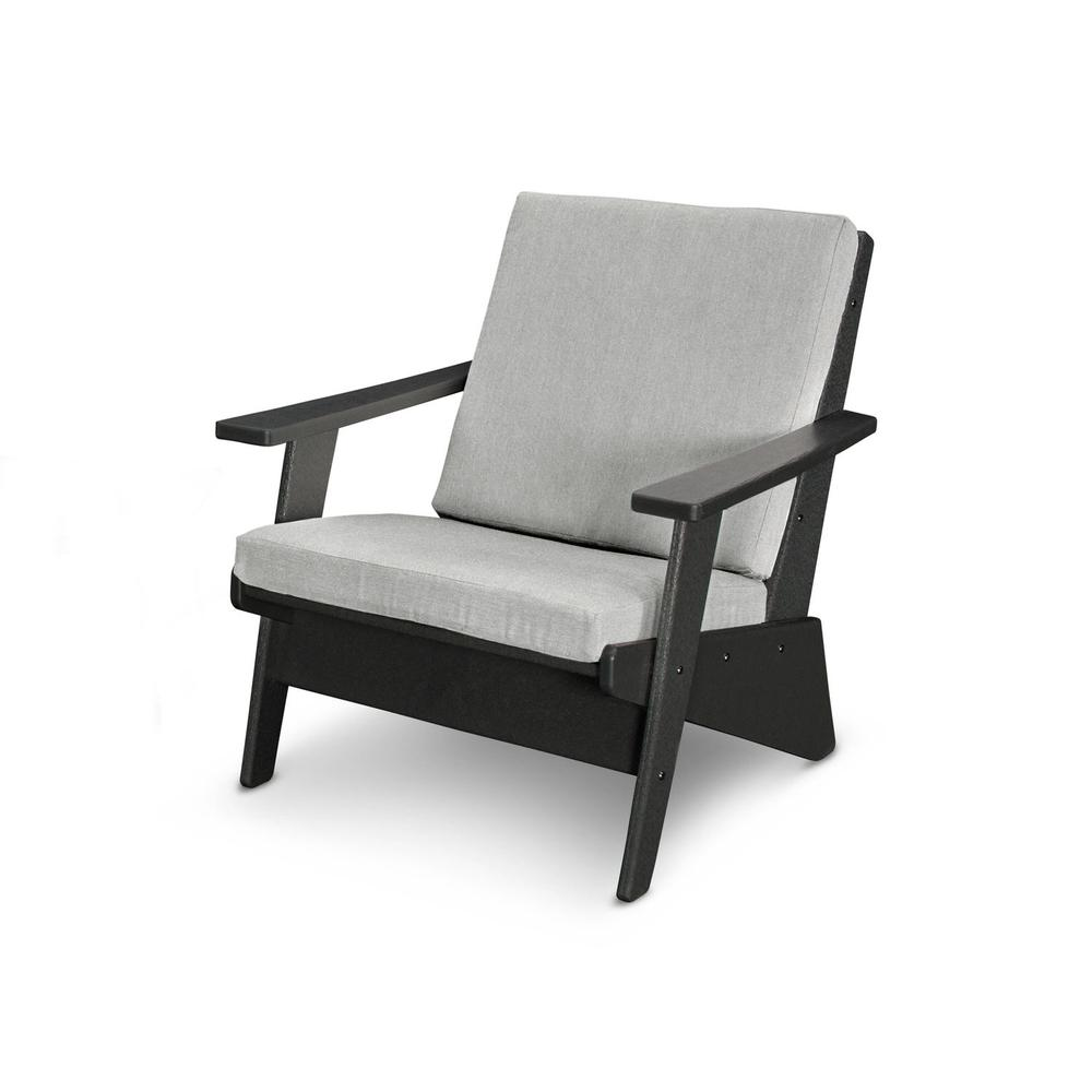 Black & Canvas Granite Riviera Modern Lounge Chair