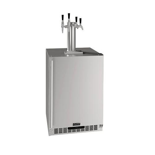 "24"" 4 Tap Beer Coffee & Wine Dispenser With Stainless Solid Finish (115 V/60 Hz Volts /60 Hz Hz)"