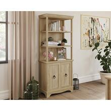 See Details - Orchard Oak 5-Shelf Bookcase with Doors