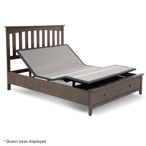 Leggett and Platt - Sunrise 2 Slim-Profile Adjustable Bed Base for Platform Beds with Adjustable Legs, Charcoal Gray, Split King