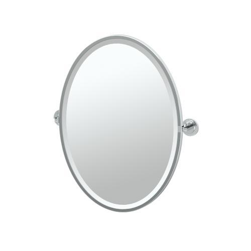 Marina Framed Oval Mirror in Chrome