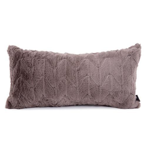 Howard Elliott - Kidney Pillow Angora Stone - Down Insert