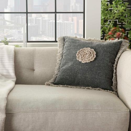 """Life Styles Gt060 Charcoal 16"""" X 16"""" Throw Pillow"""