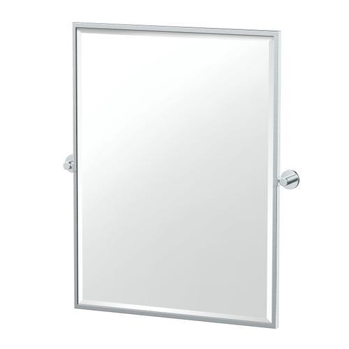 Reveal Framed Rectangle Mirror in Matte Black