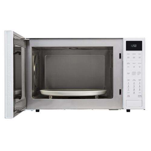 1.5 cu. ft. 900W Sharp White Carousel Convection + Microwave Oven