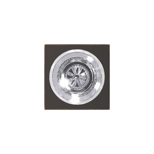 Custom Hobson Glass Knob with Collins Trim Hall-Closet and Bed-Bath Lock - Aged Bronze