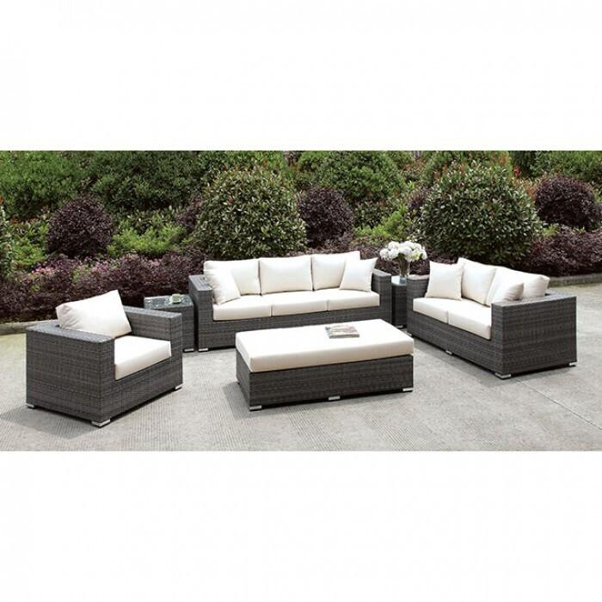 See Details - Somani 3 Pc Set + Bench + 2 End Tables