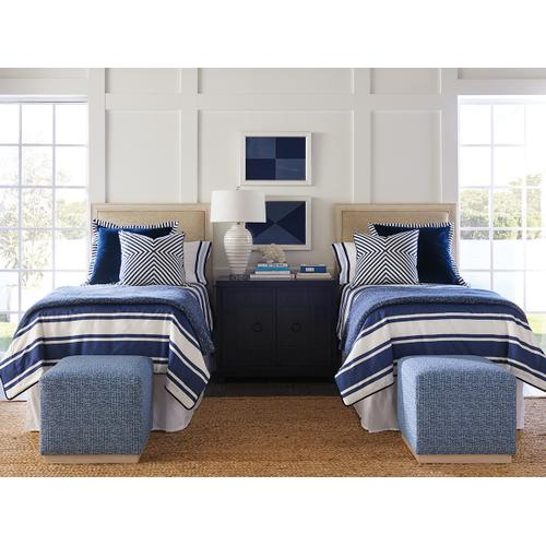 Crystal Cove Upholstered Panel Headboard Twin Headboard