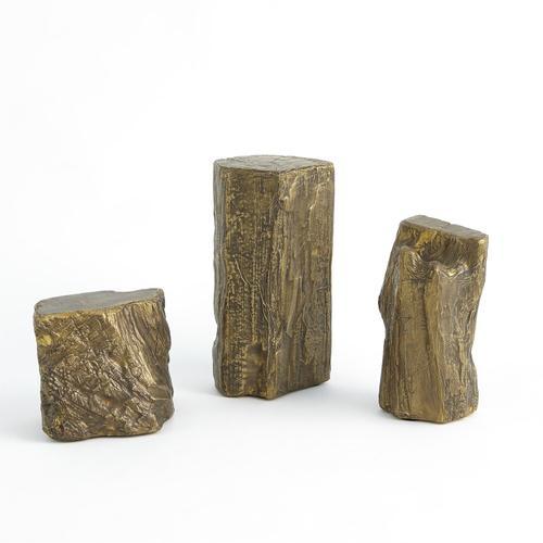 See Details - Timber Sculpture-Brass-Lg