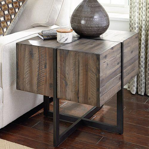 Modern Timber Accent End Table
