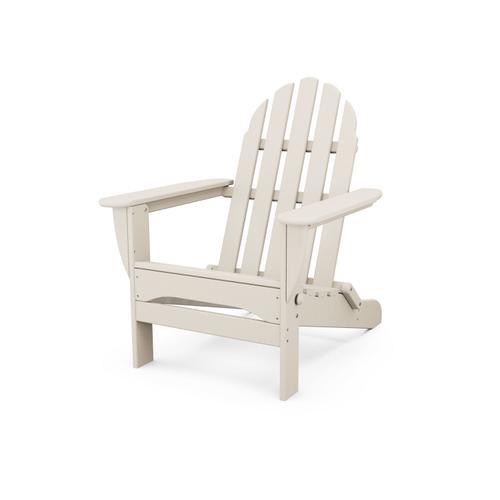 Sand Classic Folding Adirondack Chair