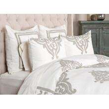Patrina Ivory 6Pc King Duvet Set