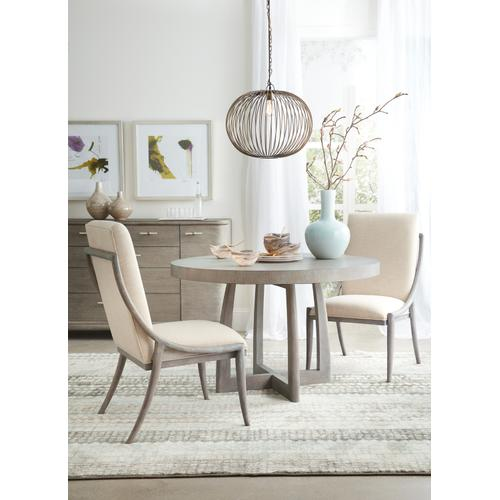 Hooker Furniture - Affinity 48in Round Pedestal Dining Table w/1-18in Leaf