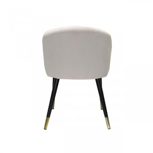 Gallery - Modrest Elon - Modern Creme Velvet Dining Chair (Set of 2)