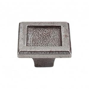 Square Inset Knob 2 Inch - Cast Iron