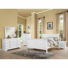 ACME Louis Philippe III Eastern King Bed - 24497EK - White