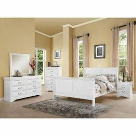 ACME Louis Philippe III Eastern King Bed - 24497EK - White